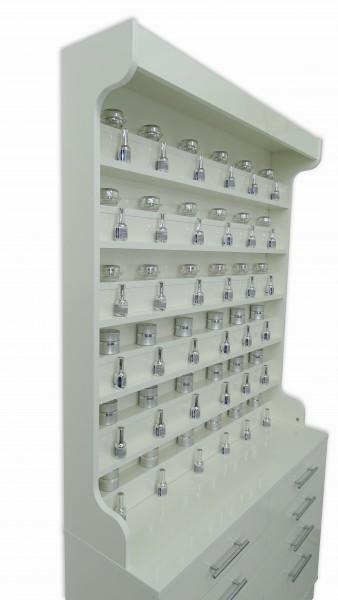 Buffet avec étagère en verre