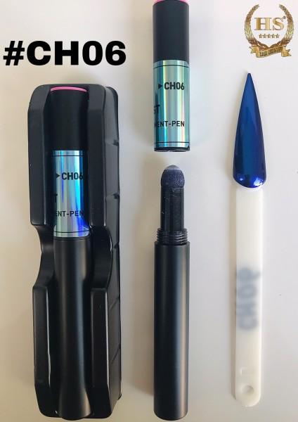Stylo pigment - hologramme bleu
