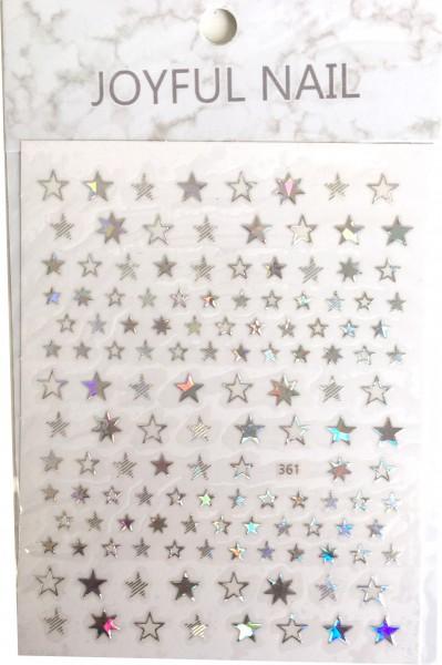 Nail art autocollant étoiles irisées