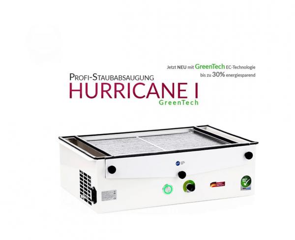 Aspiration professionnelle des poussières Hurricane-I-GreenTech