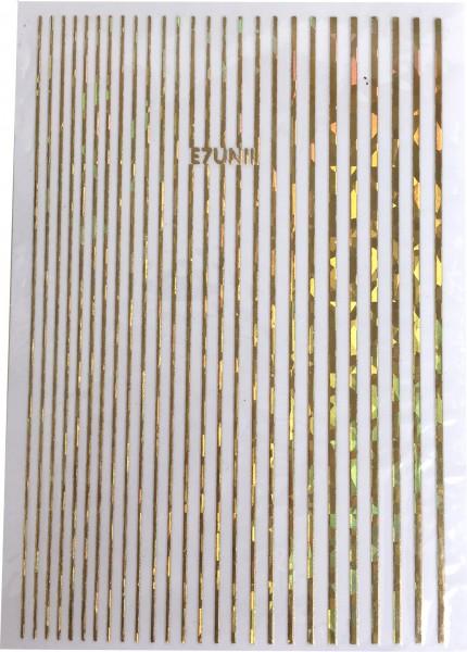 Nail art bandes autocollantes or irisé