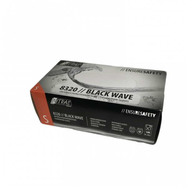 Gants jetables en nitrile Black Wave 100st