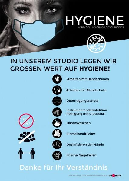 Film hygiène note A2 pour vitrines